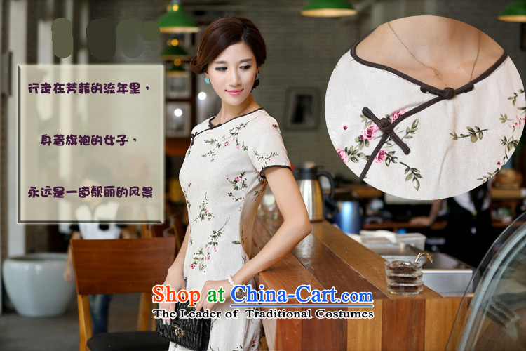 Darth their new spring and summer 2015 for women national long neck tie improved stylish Sau San manually linen dresses qipao CKK438 figure XL Photo, prices, brand platters! The elections are supplied in the national character of distribution, so action, buy now enjoy more preferential! As soon as possible.