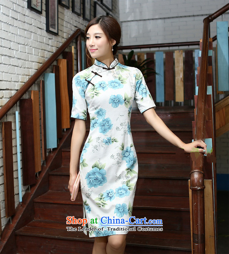 Darth their 2015 Spring/Summer women of ethnic Mock-neck Sau San is manually long improved stylish cotton linen dresses qipao COL544 figure S picture, prices, brand platters! The elections are supplied in the national character of distribution, so action, buy now enjoy more preferential! As soon as possible.