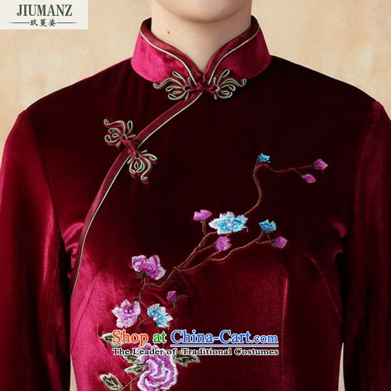 Ko Yo Overgrown Tomb 2015 new qipao Gigi Lai stylish 7/improved handicraft embroidery scouring pads qipao and the dress short skirt TD0010 QIPAO 165/L, Violet Ko Yo Overgrown Tomb Gigi Lai , , , shopping on the Internet