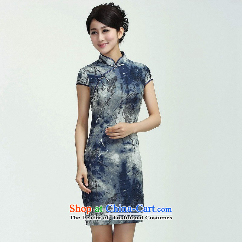 158 Jing qipao summer improved retro dresses cotton linen collar hand-painted Chinese cheongsam dress short of improved?2368 - 1 ink sunken Yin?L, paras. 110115 catty_ Recommendation