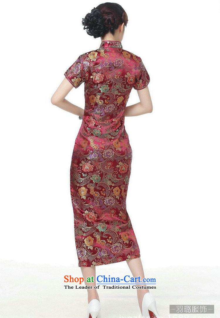 In the new kit, Retro ethnic improved 10 detained Short-Sleeve Mock-Neck long skirt qipao聽TJ0028# Tang dynasty,聽wine red聽XXXL picture, prices, brand platters! The elections are supplied in the national character of distribution, so action, buy now enjoy more preferential! As soon as possible.
