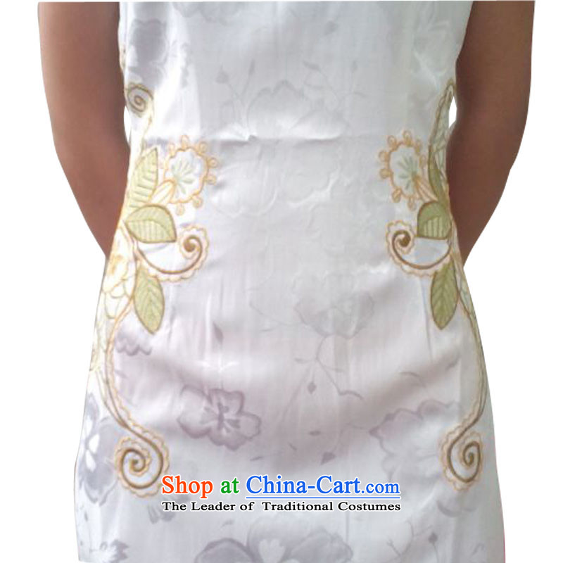 2015 Women's dresses skirt summer Stylish retro Sau San daily qipao improved the skirt of her dress short Butterfly Lovers apricot聽M Leung micro-ching , , , shopping on the Internet