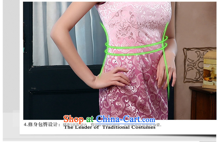 [Sau Kwun Tong] if the water in the 2015 Summer New Chinese qipao improved Couture fashion dresses QD4416 pink聽XXL picture, prices, brand platters! The elections are supplied in the national character of distribution, so action, buy now enjoy more preferential! As soon as possible.