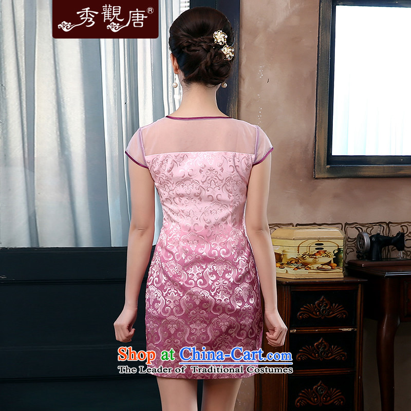 [Sau Kwun Tong] if the water in the 2015 Summer New Chinese qipao improved Couture fashion dresses QD4416聽XXL, PINK-soo Kwun Tong shopping on the Internet has been pressed.