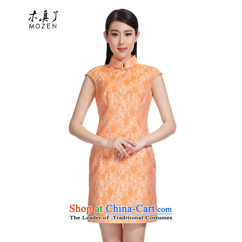 Wooden spring and summer of 2015 really new improved cheongsam dress stylish dresses Female dress�(SFOR) was 11,458 12 Orange�XL