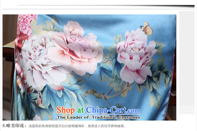 [Sau Kwun Tong] Peony Pavilion heavyweight Silk Cheongsam 2015 Summer retro upscale silk cheongsam dress G81155 load mother suit short)聽L pictures, prices, brand platters! The elections are supplied in the national character of distribution, so action, buy now enjoy more preferential! As soon as possible.