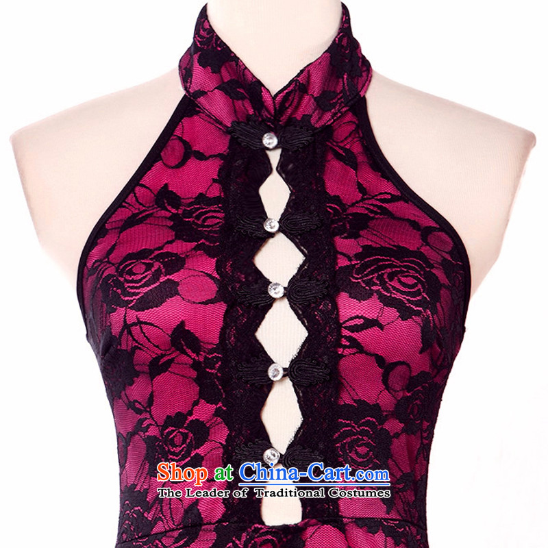 158 multimedia�15 OF CHINESE CHEONGSAM Retro night service hotel qipao bar serving evening dress uniform rose are code