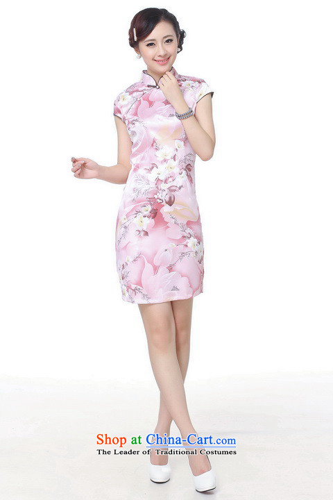 158 Jing qipao summer improved retro Dresses Need collar badges of hand-painted silk cheongsam dress short Chinese improvement of gray L, paras. 110115 Recommendations J5139 catties) Picture, prices, brand platters! The elections are supplied in the national character of distribution, so action, buy now enjoy more preferential! As soon as possible.