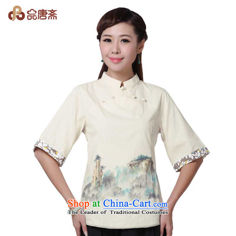 No. of Ramadan 2014 Summer Tang female China wind retro cotton linen Tang blouses qipao hemp color?XXL