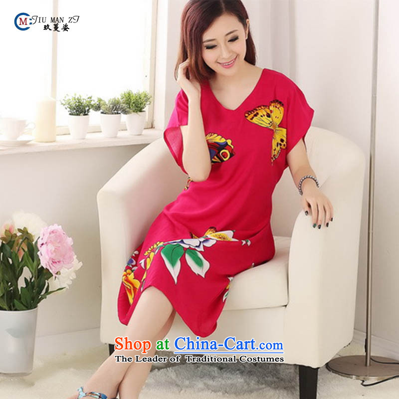 Ko Yo Overgrown Tomb爏pring and summer 2015 Gigi Lai Ms. new cotton stylish round-neck collar relaxd fit butterfly large stylish and cozy S0117 red are code