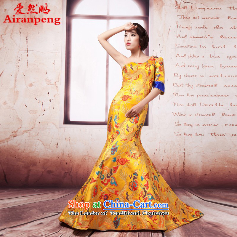 Love So Peng stars of the same Fan Bing Bing, dragon robe marriages bows cheongsam dress wedding will smear the customer service to the size to do not support returning