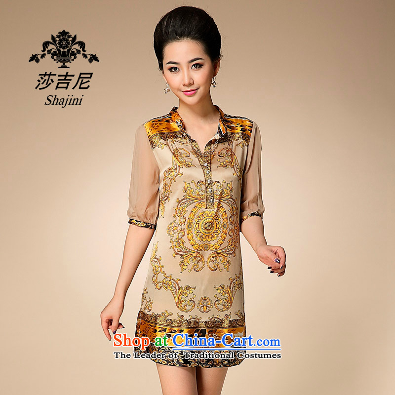 Elizabeth,�2015 female silk sauna silk dresses in summer Long skirts and Kim Ho�XL