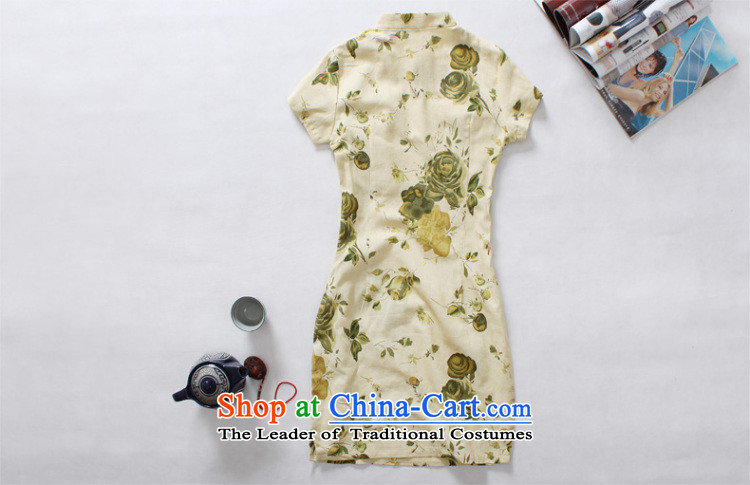 Light of improved Stylish retro summer cotton linen ethnic cheongsam dress female new linen short of Qipao Zi YuanM picture, prices, brand platters! The elections are supplied in the national character of distribution, so action, buy now enjoy more preferential! As soon as possible.