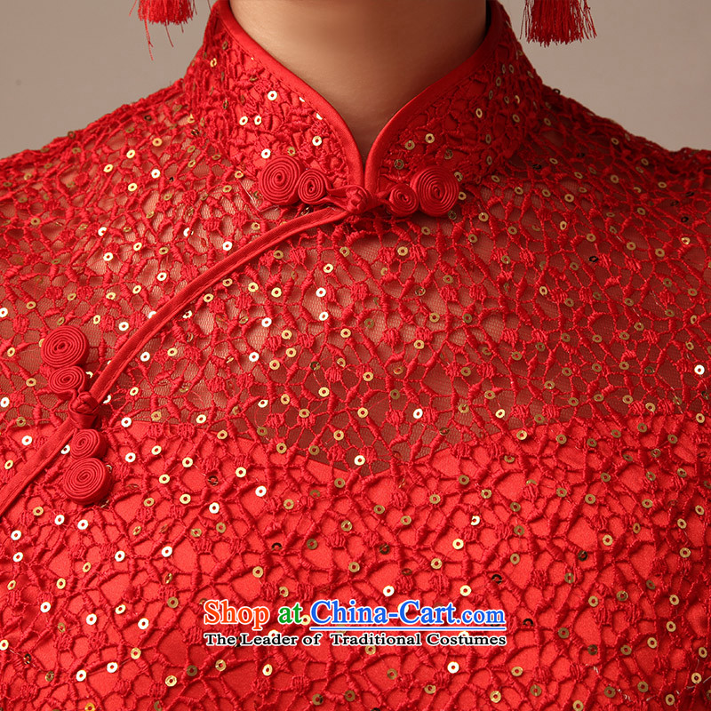 2015 new marriages QIPAO) Red bride wedding short qipao bows services for summer RED聽M Kit Man , , , shopping on the Internet