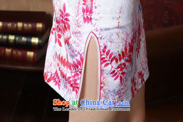 Take the new summer figure female cheongsam collar Chinese improved hand-painted a lapel COTTON SHORT views of the Tang dynasty white D0222-a qipao M picture, prices, brand platters! The elections are supplied in the national character of distribution, so action, buy now enjoy more preferential! As soon as possible.