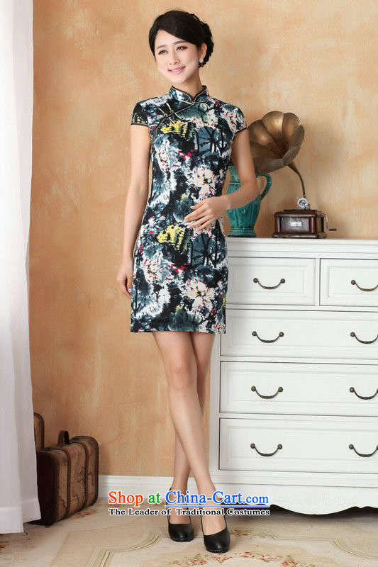 Figure for summer flowers of Chinese New improved collar is traversed by the Tang dynasty qipao hand-painted retro mini cheongsam with 4 White XL Photo, prices, brand platters! The elections are supplied in the national character of distribution, so action, buy now enjoy more preferential! As soon as possible.