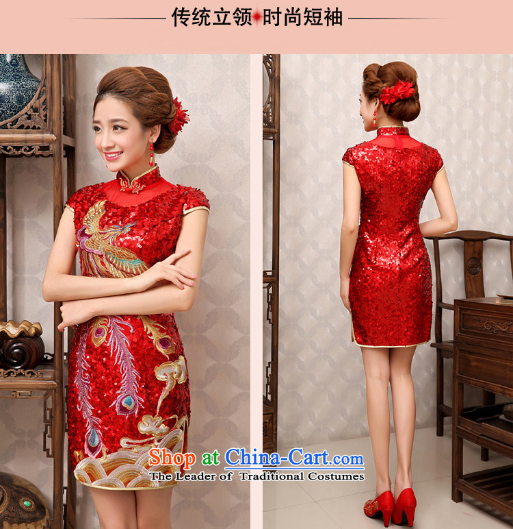 Rain-sang yi 2015 new bride wedding dresses red atmospheric improved marriage bows spring and summer services with short-sleeved Sau San short of Qipao QP484 RED聽L picture, prices, brand platters! The elections are supplied in the national character of distribution, so action, buy now enjoy more preferential! As soon as possible.