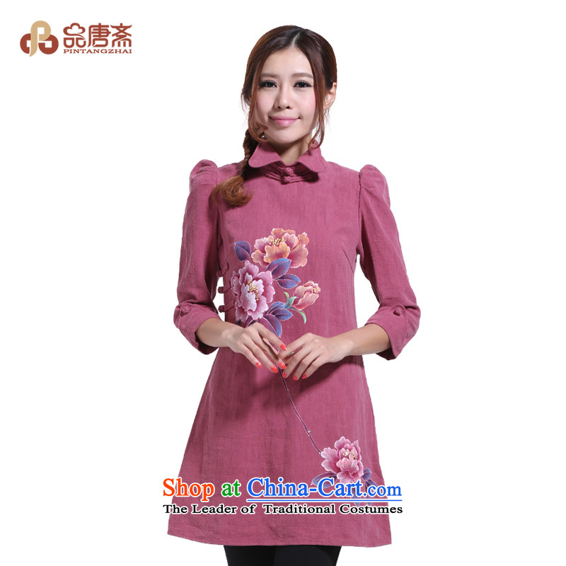 No. of Ramadan hand-painted ethnic Tang wind cotton linen loose Tang dynasty picture color燬