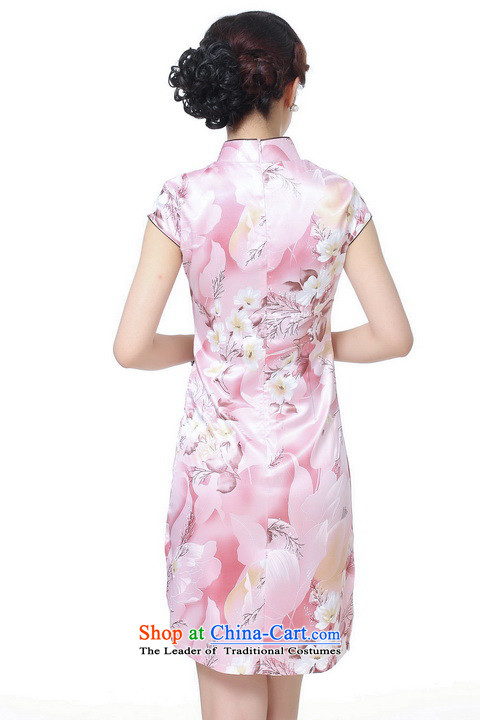 It new cheongsam dress summer improved retro collar is pressed to hand-painted silk cheongsam dress short Chinese improvement,light blue2XL pictures, J5132 price, brand platters! The elections are supplied in the national character of distribution, so action, buy now enjoy more preferential! As soon as possible.