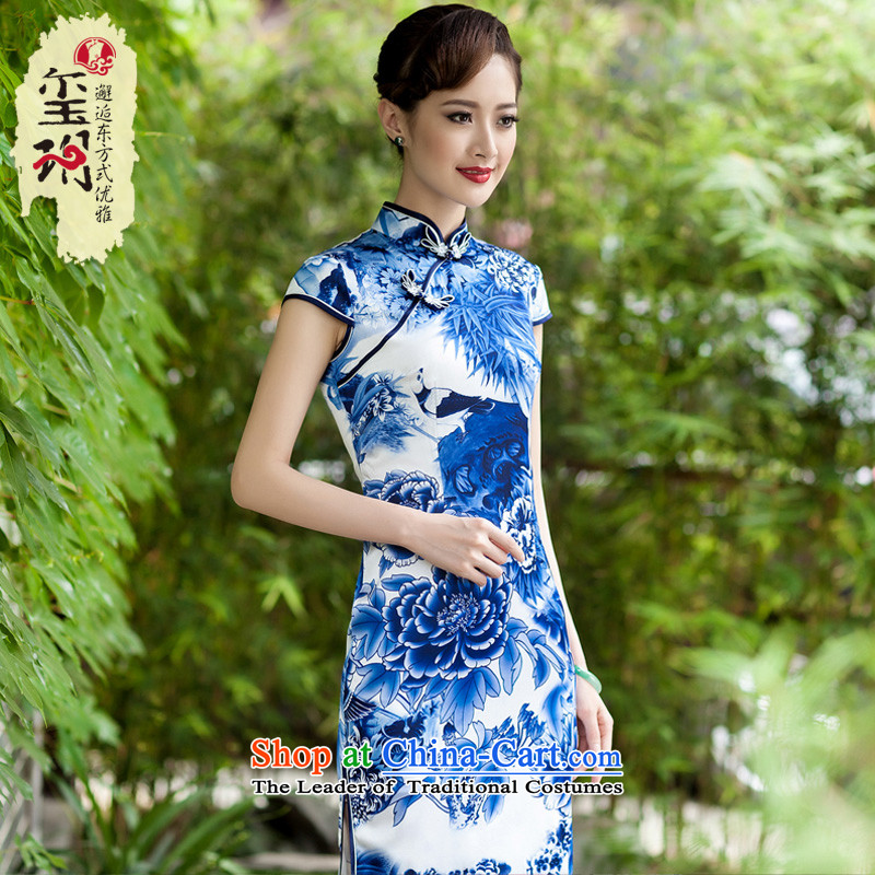 Seal of 2014 a new summer of Chinese ethnic porcelain cheongsam dress daily improved stylish Sau San porcelain?M