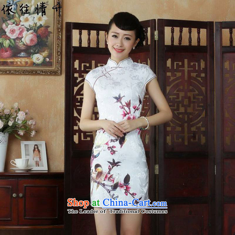 In accordance with the Love l?2015 Summer trendy new products is traversed by the stamp of Sau San Tong replacing?LGD/D0248# qipao?picture color?XL