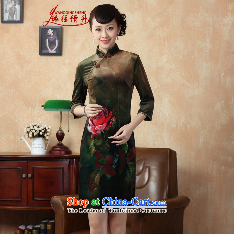 In accordance with the fall in love and stylish new Stretch Wool Poster Classic Kim in Tang Dynasty qipao?LGD/TD0002# cuff?picture color?2XL
