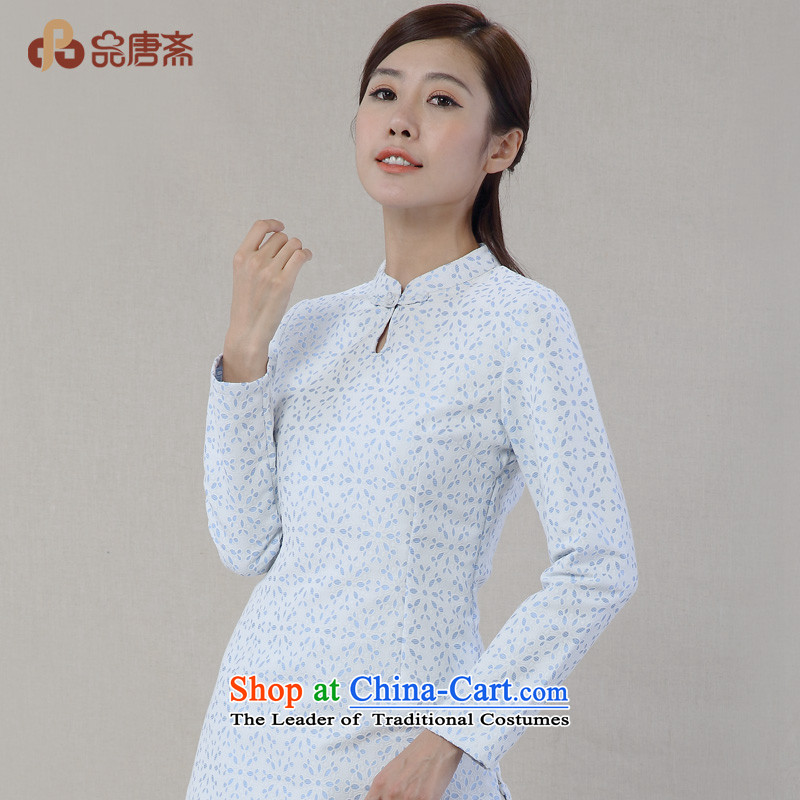 No. of Ramadan 2014 Autumn Load Tang new cotton linen collar tray clip saika long-sleeved improved Han-Tang Dynasty White XL, Tang Ramadan , , , No. shopping on the Internet