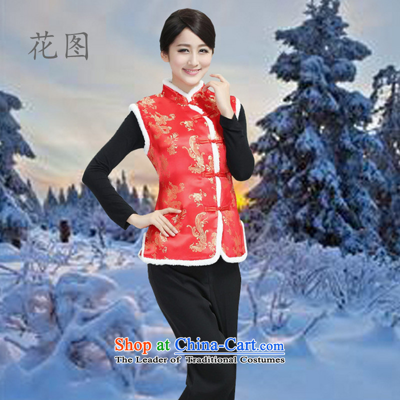 It New Fall_Winter Collections Mock-neck qipao Tang Dynasty Ma folder vest Workwear Chinese clothing national costumes�- 3 XL