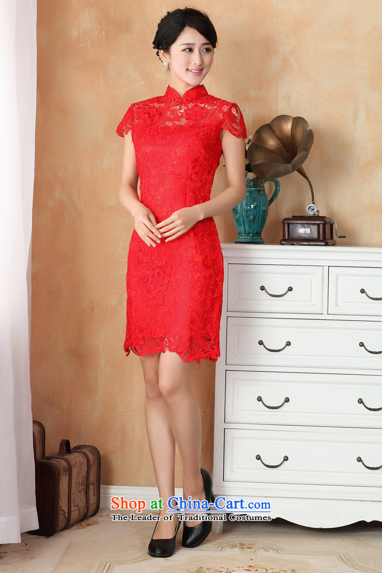 In accordance with the Love l summer trendy new products is pressed to collar Sau San lace cheongsam dress WNS/2365# RED S picture, prices, brand platters! The elections are supplied in the national character of distribution, so action, buy now enjoy more preferential! As soon as possible.