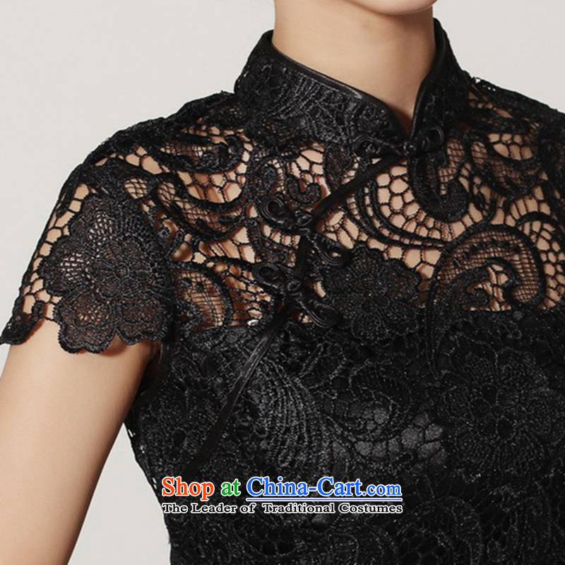 In accordance with the Love l summer trendy new products is pressed to collar Sau San lace cheongsam dress  according to S, Red WNS/2365# love l , , , shopping on the Internet
