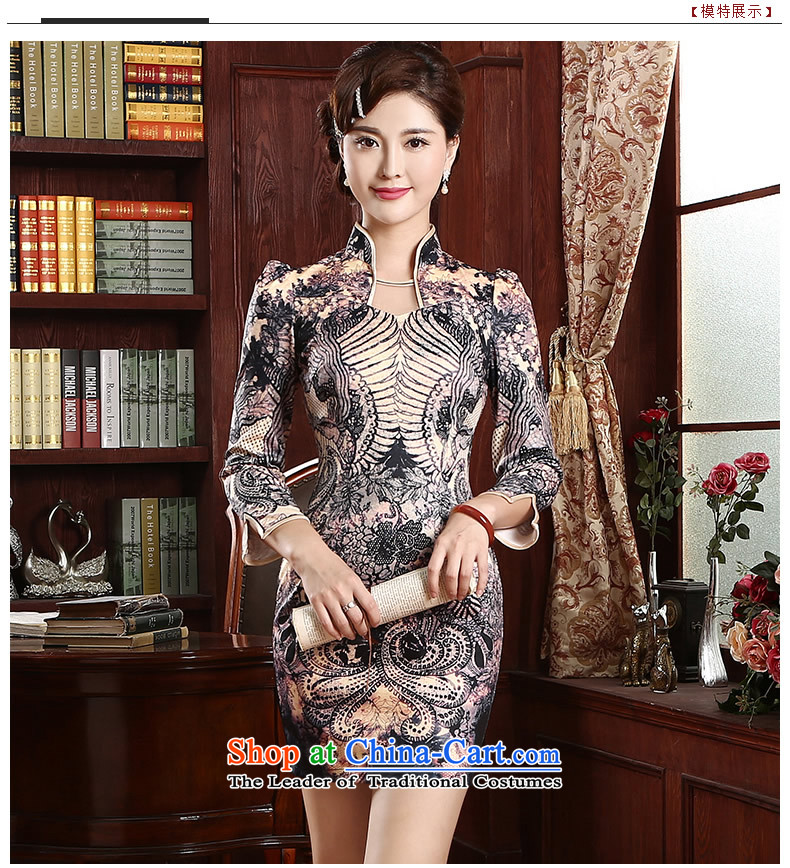 [Sau Kwun Tong] aptitudes and stylish improved qipao in spring and summer 2015 skirt daily Sau San qipao cheongsam dress suitM pictures, QZ4731 price, brand platters! The elections are supplied in the national character of distribution, so action, buy now enjoy more preferential! As soon as possible.