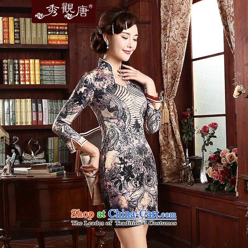 [Sau Kwun Tong] aptitudes and stylish improved qipao in spring and summer 2015 skirt daily Sau San qipao cheongsam dress suitM-soo, QZ4731 TANG , , , shopping on the Internet