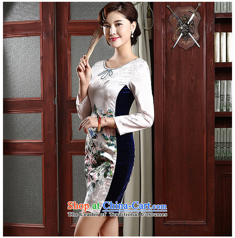 [Sau Kwun Tong] Hee-chih cotton jacquard cheongsam dress Sau San spring 2015 in New cuff improved cheongsam dress QZ4741 White聽XL Photo, prices, brand platters! The elections are supplied in the national character of distribution, so action, buy now enjoy more preferential! As soon as possible.
