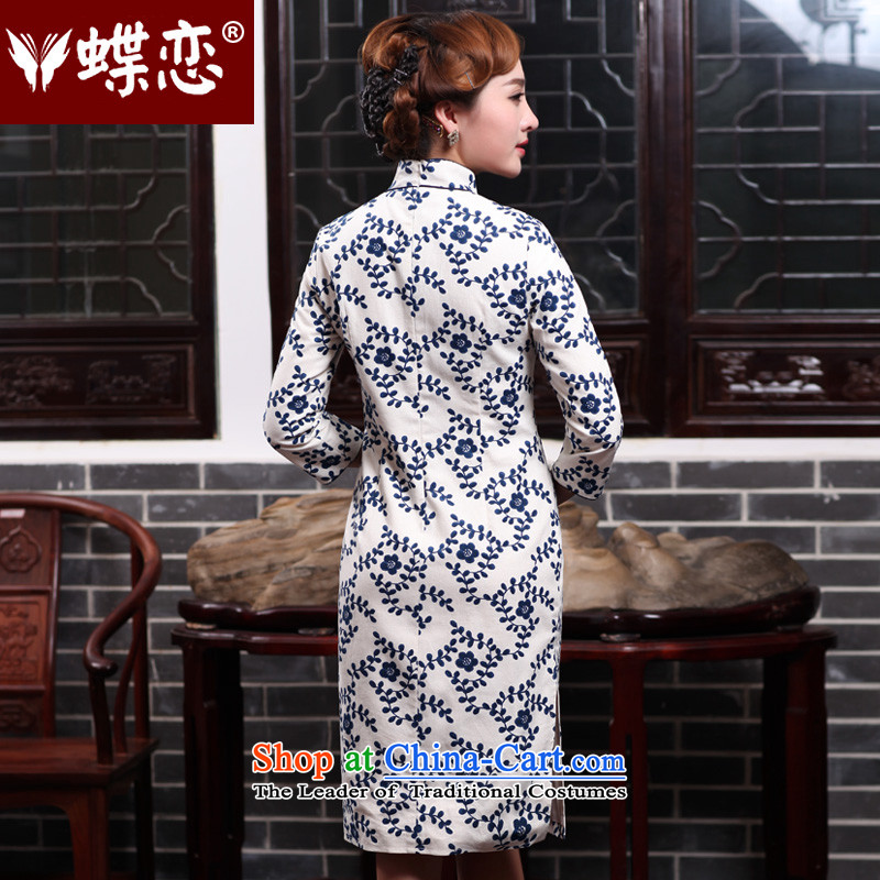 The Butterfly Lovers autumn 2015 new for women improved stylish cheongsam dress daily Sau San cotton linen dresses 47011 figure聽XXL, Butterfly Lovers , , , shopping on the Internet