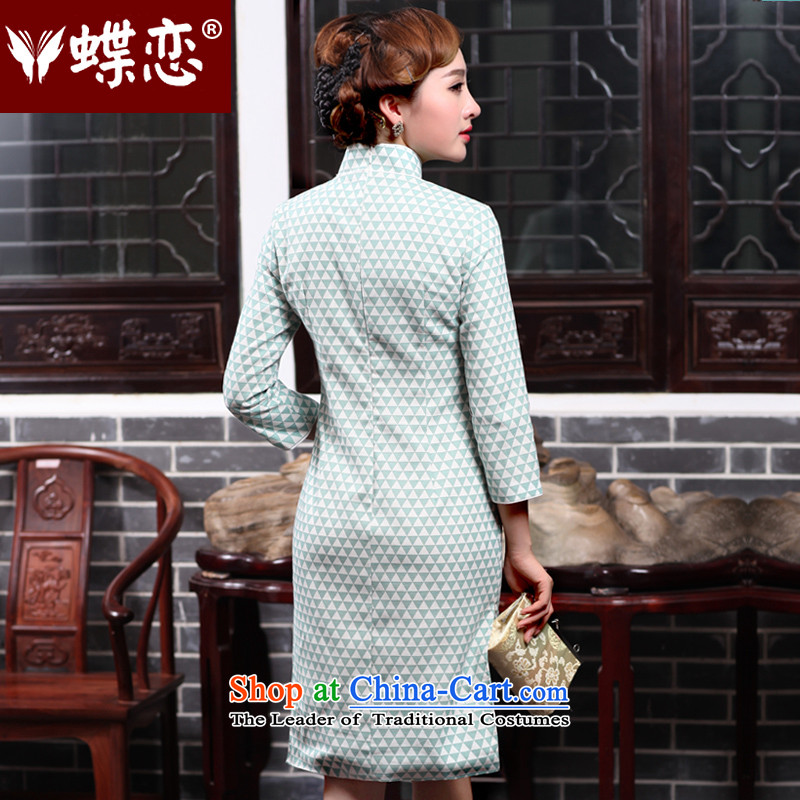 The Butterfly Lovers autumn 2015 new for women improved stylish cheongsam dress daily Sau San cotton linen cheongsam dress 47014 M Butterfly Lovers as shown in Figure , , , shopping on the Internet