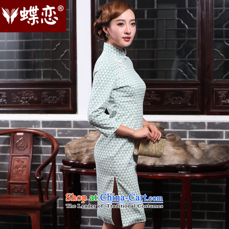 The Butterfly Lovers autumn 2015 new for women improved stylish cheongsam dress daily Sau San cotton linen cheongsam dress 47014M Butterfly Lovers as shown in Figure , , , shopping on the Internet