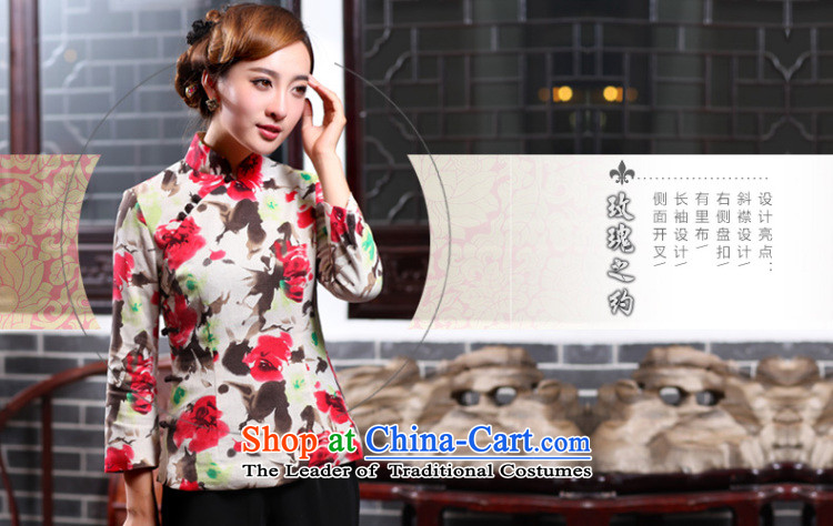 Butterfly Lovers 2015 Autumn new cotton linen, stylish shirt qipao improved ethnic Chinese President Tang dynasty 47021 figure聽XXL picture, prices, brand platters! The elections are supplied in the national character of distribution, so action, buy now enjoy more preferential! As soon as possible.
