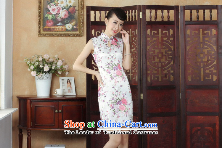 C.o.d. floral Tang Dynasty, the new summer women's Mock-neck Chinese cheongsam dress qipao improvement - 1 White M picture, prices, brand platters! The elections are supplied in the national character of distribution, so action, buy now enjoy more preferential! As soon as possible.