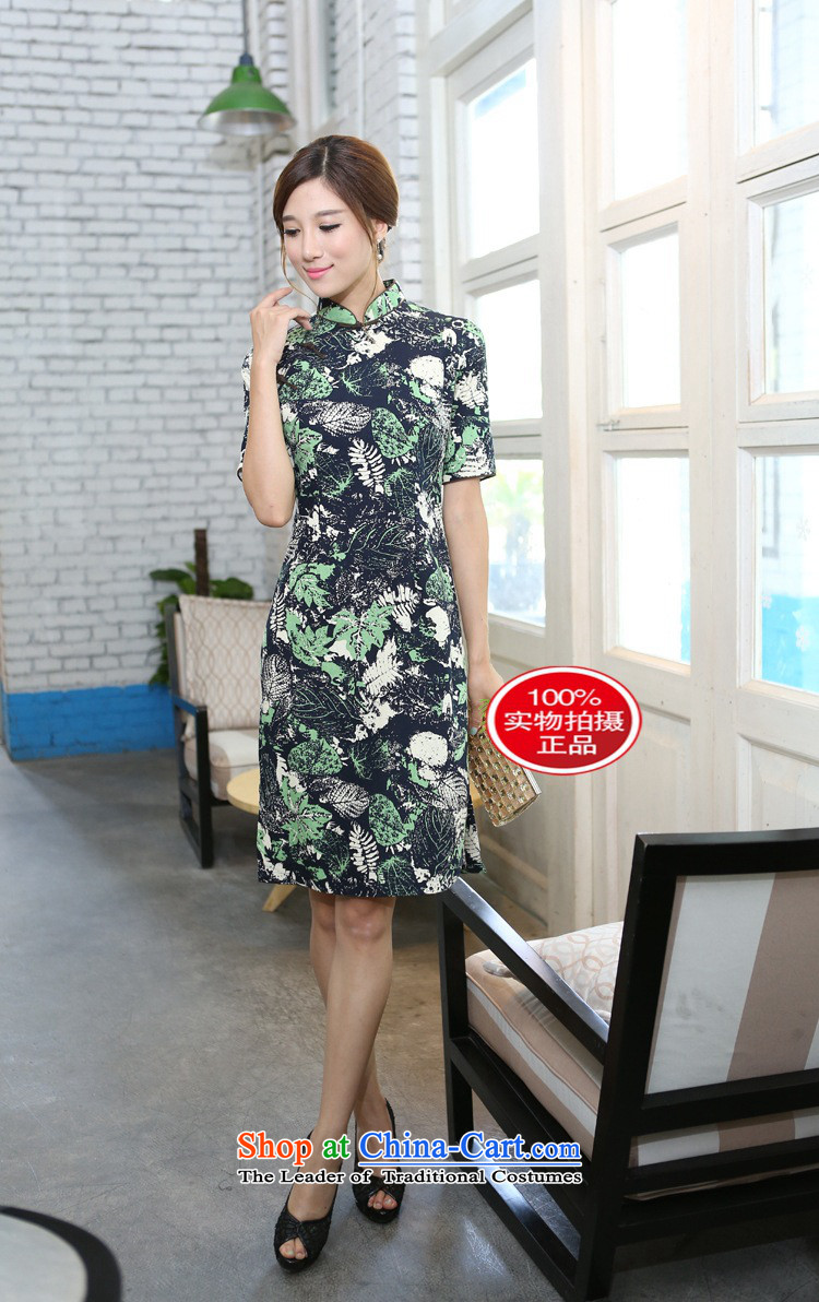 It during the spring and autumn female cotton linen collar in the flowers and leaves the cuff and knee in manual long cheongsam dress in the Mood for Love collar聽2XL Photo, prices, brand platters! The elections are supplied in the national character of distribution, so action, buy now enjoy more preferential! As soon as possible.
