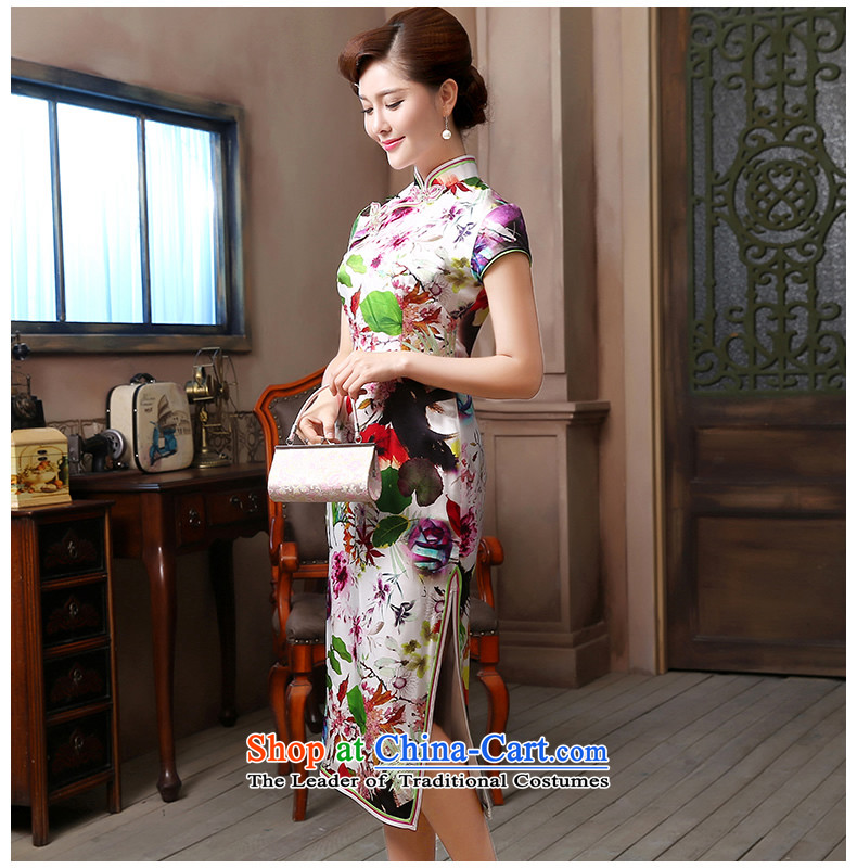 [Sau Kwun Tong] air freshener 2015 Long Silk Cheongsam upscale herbs extract retro evening dress suit S pictures, QD4804 price, brand platters! The elections are supplied in the national character of distribution, so action, buy now enjoy more preferential! As soon as possible.