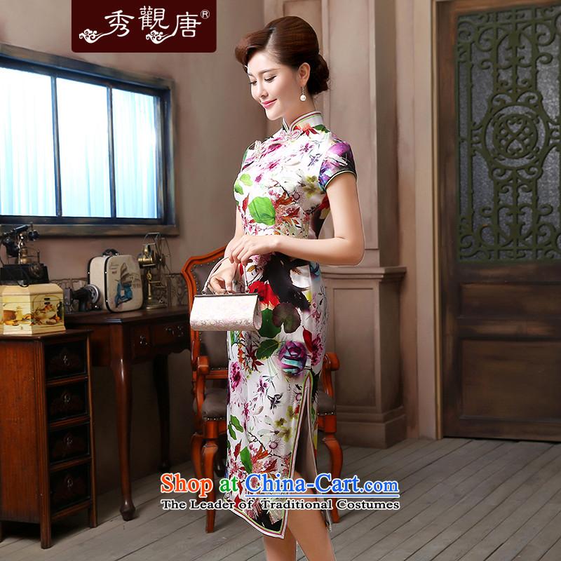 [Sau Kwun Tong] air freshener 2015 Long Silk Cheongsam upscale herbs extract retro evening dress suitS, Soo-View QD4804 TANG , , , shopping on the Internet