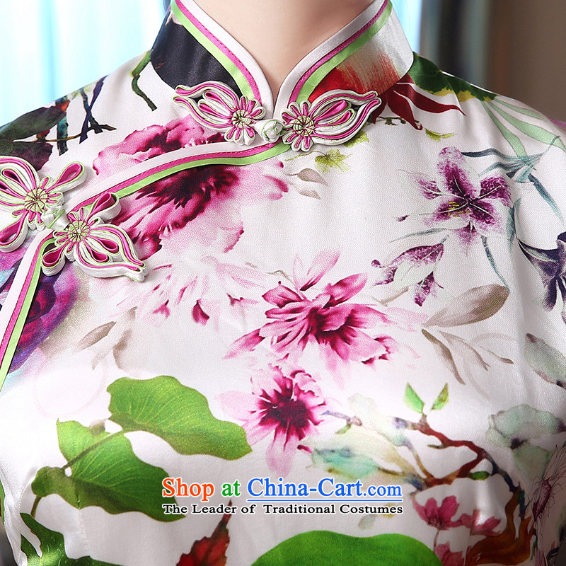 [Sau Kwun Tong] air freshener 2015 Long Silk Cheongsam upscale herbs extract retro evening dress suit S, Soo-View QD4804 TANG , , , shopping on the Internet