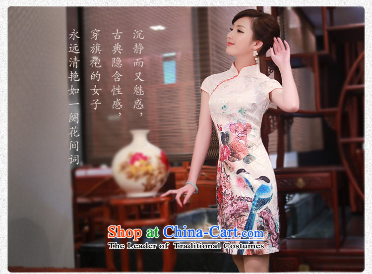After a new wind 2015 Summer High-end cheongsam dress Stylish retro stamp cheongsam dress suit聽XL Photo 4337 4337, prices, brand platters! The elections are supplied in the national character of distribution, so action, buy now enjoy more preferential! As soon as possible.