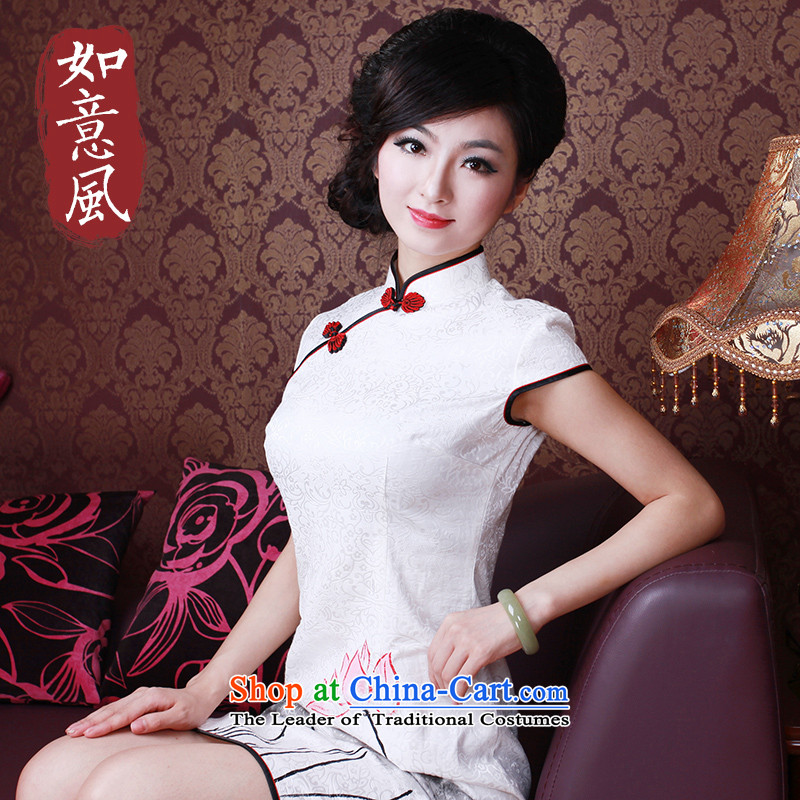 After the elections as soon as possible a new summer 2015, wind, Retro improved hand-painted ink wind qipao 2163 2163-to-day I should be grateful if you would have white?S