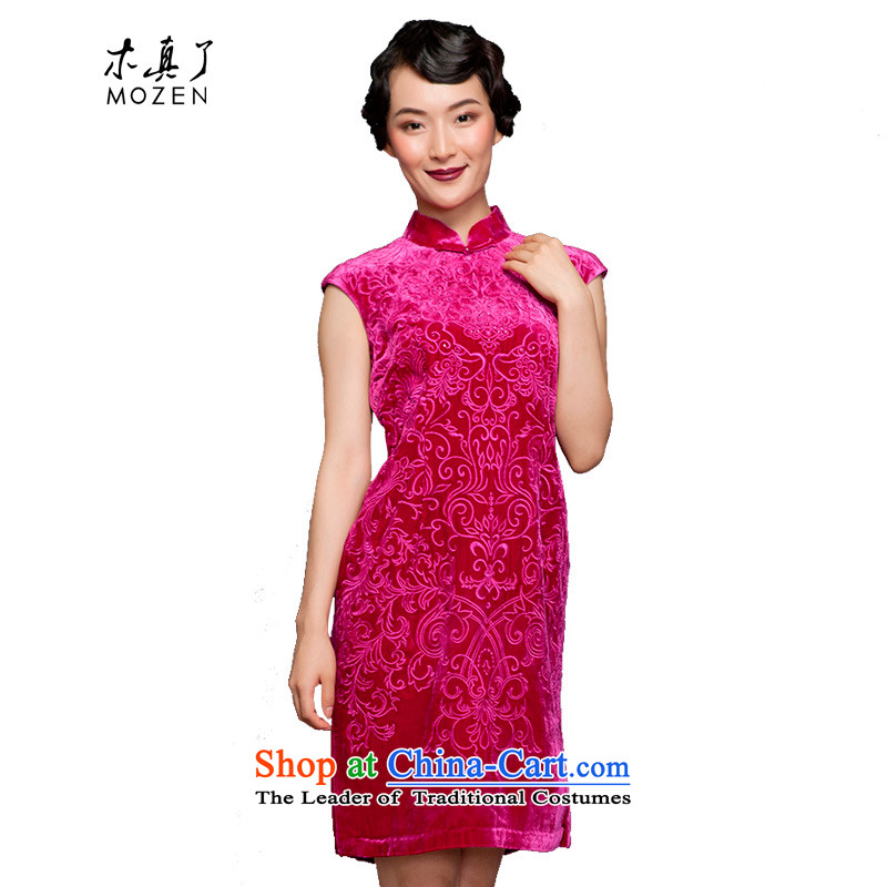 The spring of 2015 really : New short winter cheongsam dress NO.22261 visitor 18 PINK?XXL(A)