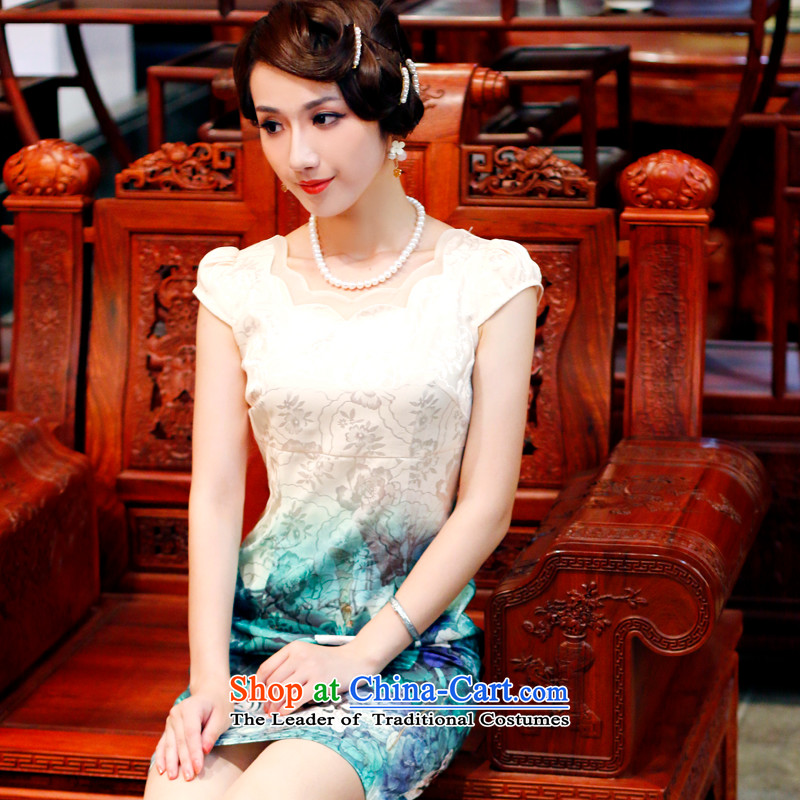 After a?new summer 2015, Wind, upscale cheongsam dress retro everyday dress cheongsam dress improved 4504th 4504th BLANDED?S