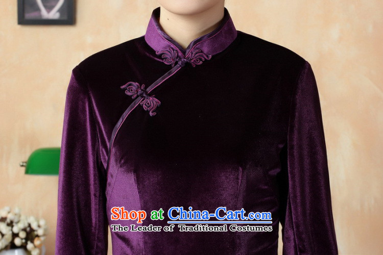 It fall inside the new Tang Women's clothes qipao pure color and the Stretch Wool long qipao Kim 7 cuff聽T0001-a 3XL picture, prices, brand platters! The elections are supplied in the national character of distribution, so action, buy now enjoy more preferential! As soon as possible.