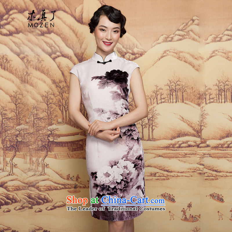 The spring of 2015 really wooden skirt the new Chinese silk cheongsam dress retro elegant dress 32,400 00 ZOSHIKI S