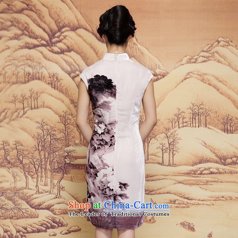 The spring of 2015 really wooden skirt the new Chinese silk cheongsam dress retro elegant dress 32,400 00 S, wooden really the colorfulness shopping on the Internet has been pressed.