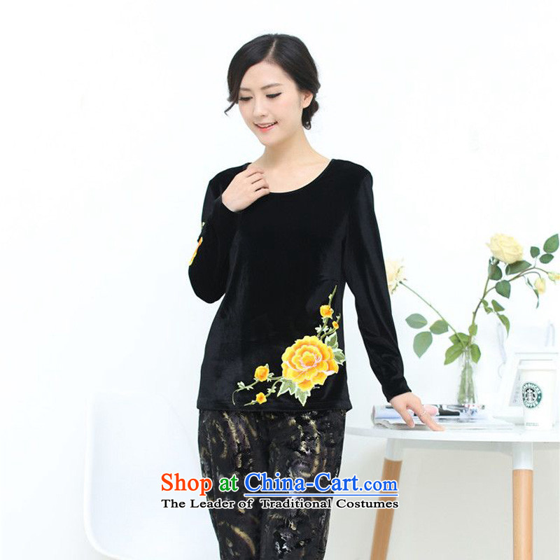 The 2014 autumn-jae on Tang blouses large relaxd the elderly in the replace Kim T-shirt SYM-905 scouring pads picture color?XXXL